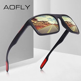 AOFLY DESIGN Ultralight TR90 Polarized Sunglasses Men Driver Shades Male