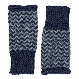 Azul Chevron Knit Alpaca Gloves
