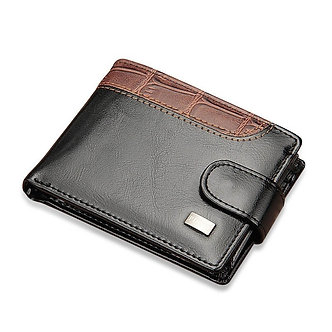 Baellerry Leather Vintage Men Wallets Coin Pocket Hasp Small Wallet Men Purse