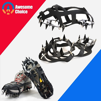 18 Teeth Climbing Crampons for Outdoor Winter Walk Ice Fishing Snow Shoes
