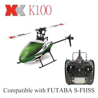XK K100 Mini 2.4G 6CH RC Helicopter Gyro RTF Electric RC Aircraft Remote Control