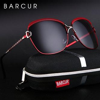 BARCUR Polarized Ladies Sunglasses Women Gradient Lens Round Sun Glasses Square