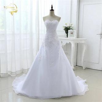 2020 New Arrival Hot Wedding Dresses Elegant Organza Applique Beading Vestidos