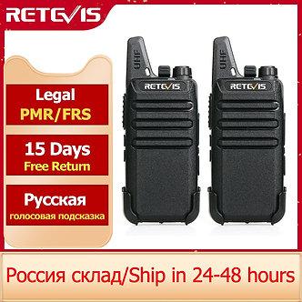RETEVIS RT622 Mini Walkie Talkie PMR 446 PTT Portable Walkie-Talkies 2 Pcs Two