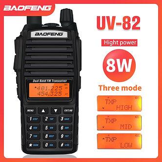 8W Dual Band Walkie Talkie 10km Baofeng UV-82 FM Transceiver Portable CB Ham
