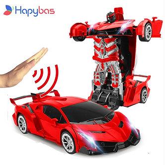 2.4Ghz Induction Transformation Robot Car 1:14 Deformation RC Car Toy Led Light