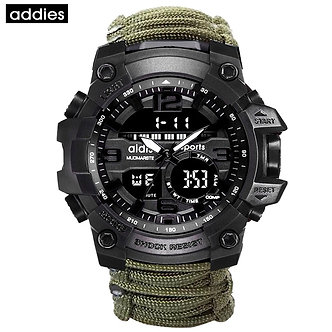 ADDIES Men Sports Watch Compass Multifunctional Waterproof Watch Outdoor