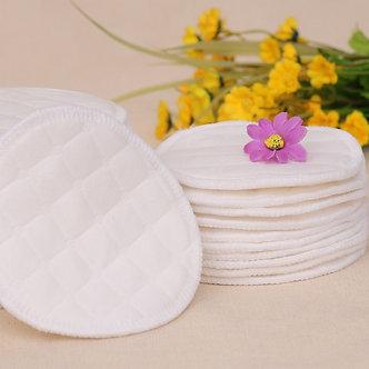 12PCS(6 Pairs) 3 Layers Cotton Reusable Breast Pads Nursing Waterproof Organic