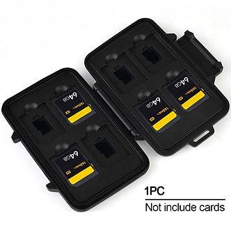 110*20*75mm Portable Aluminum Memory Card Storage Box Waterproof Memory Card
