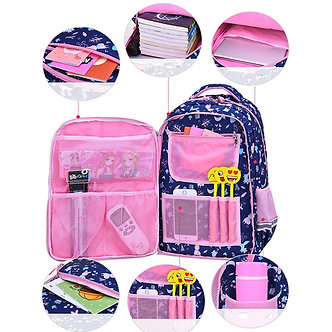 2021 Suitable for Grades 1-6 Flower Cartoon Printing School Bags for Girls