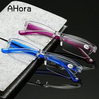 Ahora Unisex Square Reading Glassses for Men Women Presbyopic +1.5 2.5 3