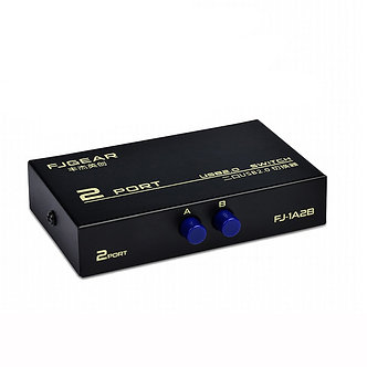 2 Port USB 2.0 Manual Sharing Switch Box for 2 Computer PC to Share 1 Printer