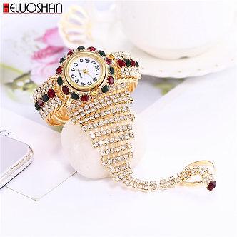 2021 Top Brand Luxury Clock Rhinestone Bracelet Watch Women Watches Ladies