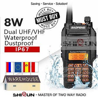 UV-9R IP67 Waterproof Dual Band 136-174/400-520MHz Ham Radio 10KM Baofeng 8W