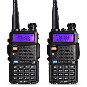 2Pcs BaoFeng UV-5R Walkie Talkie VHF/UHF136-174Mhz&400-520Mhz Dual Band Two