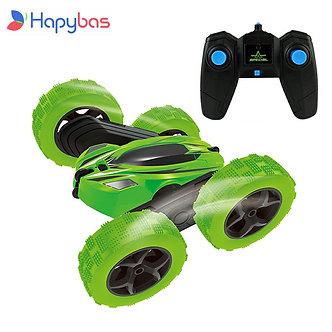 2.4Ghz Remote Control Cars Stunt Rc Car High Speed Flashing 3D Flip Roll Green