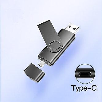 2 in 1 Typec Usb Flash 4GB 16GB 32GB 64GB 128gb  Usb Flash Drive Memory Stick