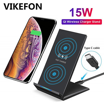 15W Qi Wireless Charger for Samsung S9 S10 iPhone X XS MAX XR 8 Plus for Xiaomi