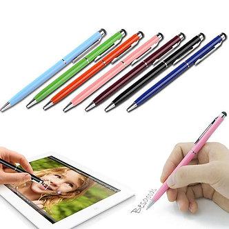 20pcs/Lot 2in1 Touch Screen Stylus Pen+Ballpoint Pen for iPad iPhone