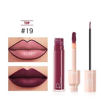 2020 New Pudaier Duo Lip Liner & Matte Liquid Lipstick - Color #19 Sangria