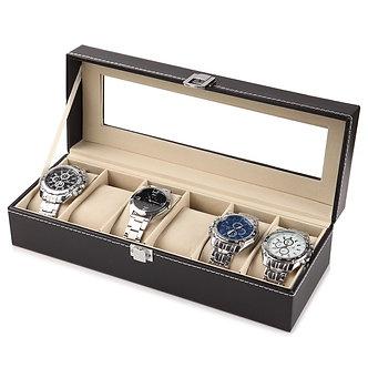 2/6/10/12 Slots PU Leather Watch Storage Box Organizer New Mechanical Mens Watch