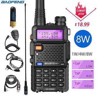 Baofeng UV-5R 8W High Power 8 Watts Powerful Walkie Talkie Long Range 10km VHF