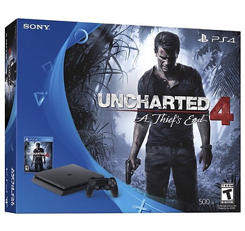 Sony PlayStation 4 Slim UNCHARTED: The Nathan Drake Collection Bundle 500GB Blac