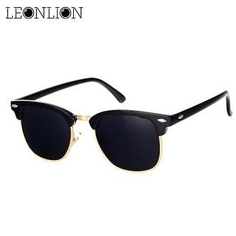 LeonLion  Polarized Semi-Rimless Sunglasses Women/Men Polarized UV400 Classic