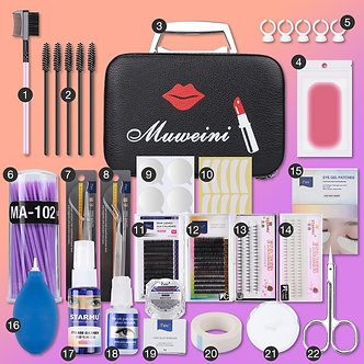 22pcs/Set Eyelash Extension Set Special Grafting Eyelash Set for Beauty Salon