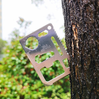 11 in 1 Mini Portable Stainless Steel Card Tactical Tool Outdoor Sports