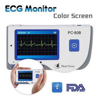 Portable PC-80B Handheld Color Screen ECG EKG Heart Monitor Detector Sensor