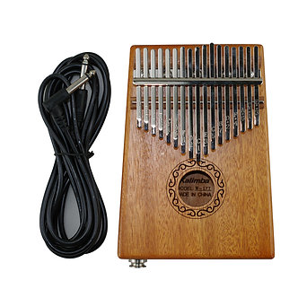 17 Keys Electric Kalimba African Solid Mahogany Thumb Finger Piano Mbira Toy