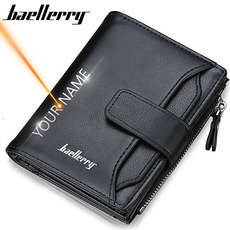 2020 Baellerry Men Wallets Fashion Short Desigh Zipper Card Holder Men Leather
