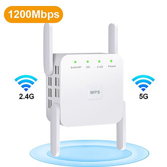 5G Wireless WiFi Repeater Wi Fi Booster 2.4G 5Ghz Wi-Fi Amplifier 300Mbps 1200