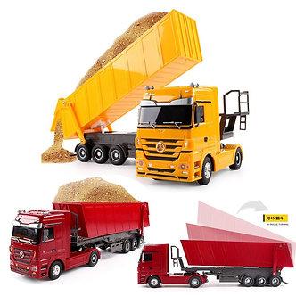 1:32 Dumper RC Truck 10 Wheels Tilting Cart Radio Control Tip Lorry Auto Lift
