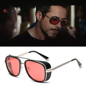 Samjune Iron Man 3 Matsuda TONY Stark Sunglasses Men Rossi Coating Retro Vintage
