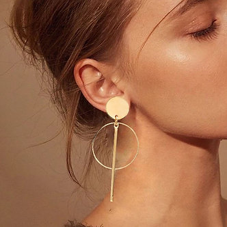 2019 Fashion Statement Clip on Earrings Geometric Earrings for Women Hanging