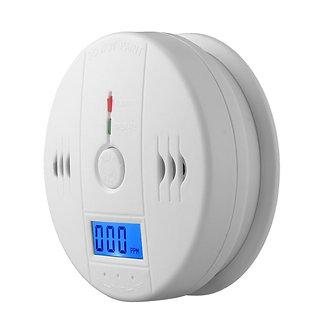 2019 Carbon Monoxide  Alarm Detector LCD CO Sensor Work Alone Built-In Siren