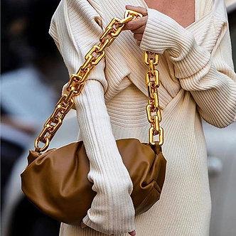 Bag for Women Cloud Bag Soft Leather Madame Bag Single Shoulder Slant Dumpling