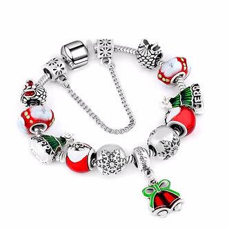 2020 Snowflake Charm Bracelet for Women DIY Crystal Beads Fit  & Bangles