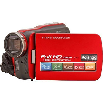 """Polaroid ID879 16MP Full 1080HD Camcorder - 3"""" Screen - Red (ID879-RED)"""