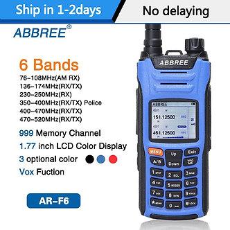 ABBREE AR-F6 6 Bands Walkie Talkie Dual Display Dual 999CH Multi-Functional