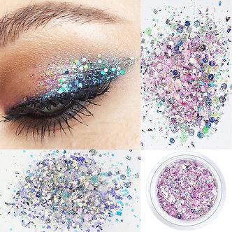 12Colors 10g Nail Decoration Glitter Eye Makeup Sequin Glitter 3D Flake