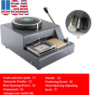 72-Letter-Embosser-Machine-PVC-Sample-Card-Credit-ID-VIP-Embossing-USA-Warehouse