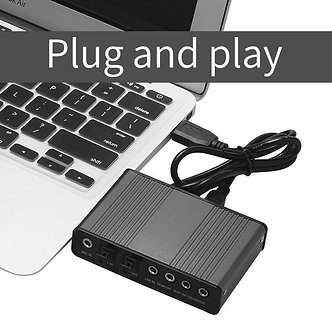 5.1 External USB Sound Card Professional 6 Channel Audio Adapter Micphone Sound