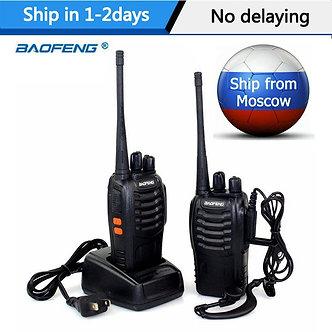 1Or 2 PCS Baofeng BF-888S Walkie Talkie 5W Two-Way Radio Portable  Radio UHF