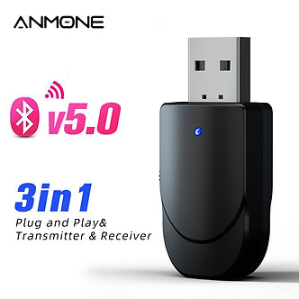 3 IN 1 USB Bluetooth Adapter 3.5mm Jack Output Wireless Bluetooth Transmitter