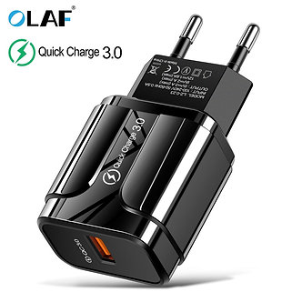 3A Quick Charge 3.0 USB Charger EU Wall Mobile Phone Charger Adapter