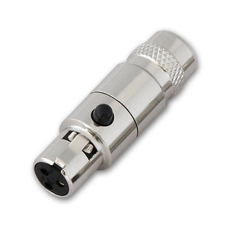 Connector - Mini XLR 3-Pin Female Inline Socket Metal