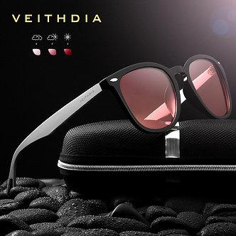 VEITHDIA Brand Unisex Aluminum+TR90 Men's Photochromic Mirror Sun Glasses